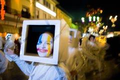 Viareggios karneval, upplaga 2019 arkivfoto