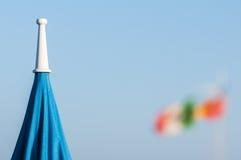 Viareggiostrand, Italië, Toscanië stock foto's