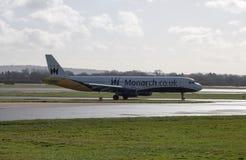 Vias aéreas Airbus A321 do monarca imagens de stock