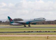Vias aéreas Boeing 767-300 de First Choice fotografia de stock