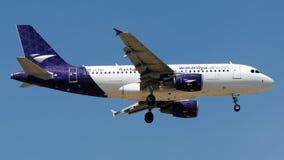 Vias aéreas de LZ-FBA Wataniya, Airbus A319-100 Foto de Stock Royalty Free