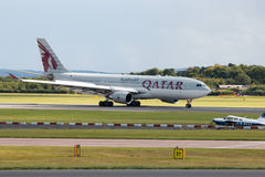 Vias aéreas A330 de Qatar Foto de Stock Royalty Free