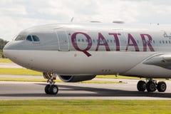 Vias aéreas A330 de Qatar Fotografia de Stock