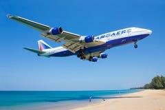 Vias aéreas de Transaero Fotografia de Stock