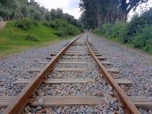 Vias del tren mas hermoso del mundo Royalty-vrije Stock Afbeeldingen