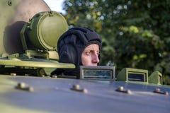 Viatura de combate da infantaria das forças armadas sérvios Fotografia de Stock Royalty Free