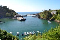Viavelez, Asturias, Spain. Seaport of Viavelez, Spain. Viavelez is a town of Asturias Stock Image