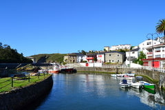 Viavelez, Asturias, Spain. Seaport of Viavelez, Spain. Viavelez is a town of Asturias Stock Images