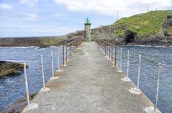 Viavelez lighthouse, Spain Royalty Free Stock Images