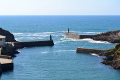 Viavelez, Spain. Lighthouses in Viavelez. Viavelez is a town in the coast of Asturias in Spain Stock Photography