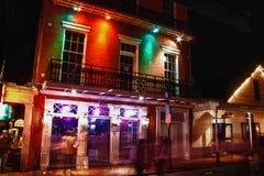 Vibe för New Orleans Bourbon gataVoodoo stång Royaltyfri Fotografi