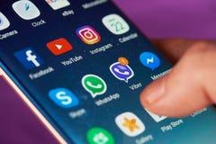 Viber meddelande på smartphonen Royaltyfri Bild