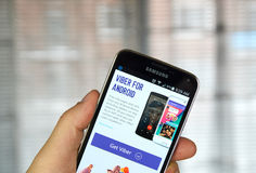 Viber mobile app on a cell phone. Stock Images