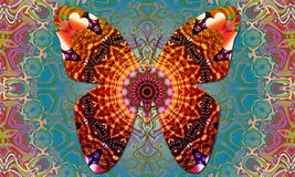 Vibes för Butterflie mandalagoda Arkivfoton