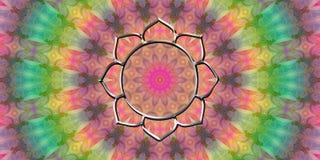 Vibes för goda för blommalotusblommamandala Royaltyfria Bilder