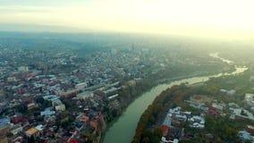 Vibes of Tbilisi, Georgia, aerial stock video footage