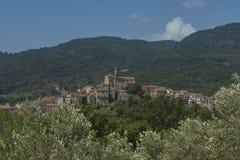 Vibonati Cilento, Italia Vista de la ciudad vieja Fotografía de archivo libre de regalías