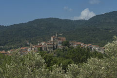 Vibonati. Cilento, Italy. View of the old town. Royalty Free Stock Photography