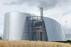 Viborg θερμικός σταθμός παραγωγής ηλεκτρικού ρεύματος Στοκ φωτογραφία με δικαίωμα ελεύθερης χρήσης
