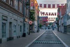 VIBORG, DANIMARCA - 18 SETTEMBRE 2016: Alba a Viborg Fotografia Stock Libera da Diritti