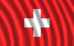 VIBRAÇÃO da BANDEIRA de Suíça imagens de stock royalty free