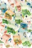 Vibração de muitas notas do Euro Fotos de Stock Royalty Free