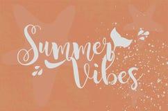 Vibrações do verão Texto do mar Ilustração do vetor ilustração do vetor