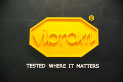 Vibram brand,tested where it matters Stock Image