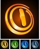 Vibrant 3d l letter. Stock Photo