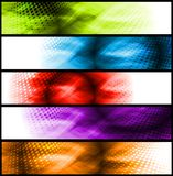 Vibrant abstract banners Royalty Free Stock Image