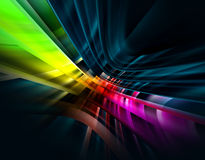 Vibrant abstract on black  background Royalty Free Stock Photo