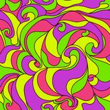 Vibrant abstract curly seamless pattern. Colorful abstract seamless pattern with nice curly waves vector illustration