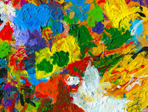 Vibrant artists palette background Royalty Free Stock Photography
