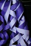 Vibrant background. Birthday ribbons on black background Royalty Free Stock Photo
