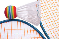 Vibrant Badminton Equipment Stock Photo