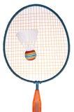 Vibrant Badminton Equipment. Raquet with Shuttlecock or Birdie Stock Photography