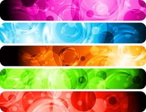 Vibrant banners Royalty Free Stock Photo