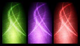 Vibrant  banners collection Royalty Free Stock Photo