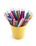 Vibrant  batch of the pencils Stock Photo
