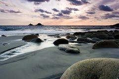 Vibrant beach sunset Royalty Free Stock Image
