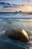 Vibrant beach sunset Stock Images
