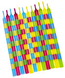 Vibrant Birthday Candles Stock Images