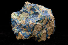 Vibrant blue azurite and green malachite Royalty Free Stock Photos