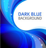 Vibrant blue background Royalty Free Stock Photos
