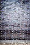 Vibrant blue brick wall Stock Image