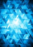 Vibrant blue hi-tech vector design Stock Images