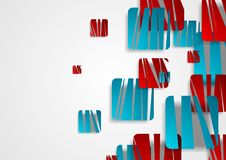 Vibrant blue and red creative squares abstract background Stock Photography