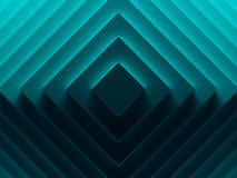 Vibrant blue rhombuses. Abstract pattern. For web template background, brochure cover or app. Material style. Geometric 3D illustration Stock Photography