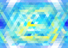 Vibrant blue and yellow seamless mosaic pattern. Abstract triangular background. Vector. Vibrant blue and yellow seamless mosaic pattern. Abstract triangular Royalty Free Stock Photography