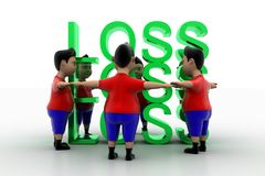 Vibrant Boys Form Circled Group  In Loss Text Stock Image